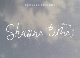Shasine Time Script Font
