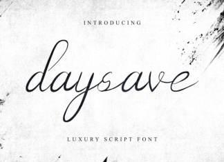 Daysave Calligraphy Font