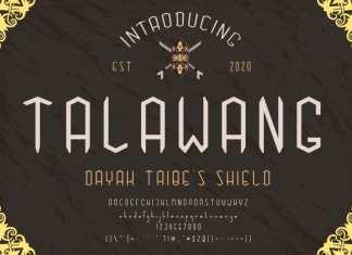 Talawang Display Font