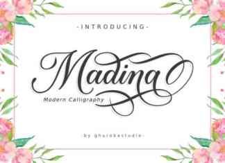 Madina Calligraphy Font