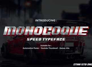 Monocoque Display Font