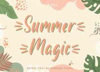 Summer Magic Script Font