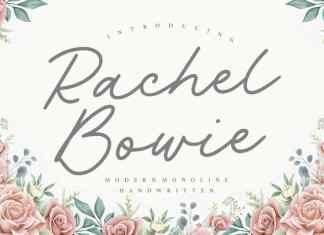 Rachel Bowie Monoline Handwritten Font