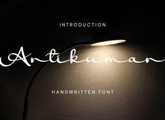 Antikuman Handwritten Font