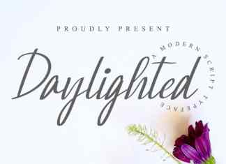 Daylighted Calligraphy Font