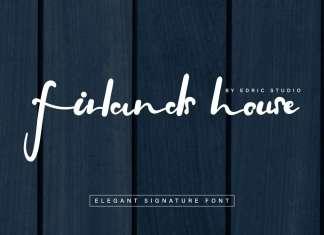 Firlands House Elegant Signature Font