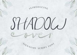 Shadow Over Signature Script Font