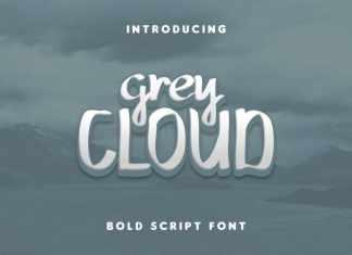 Grey Cloud Bold Script Font