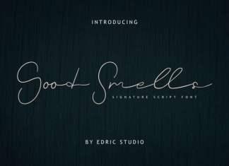 Good Smells Signature Font