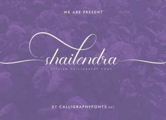 Shailendra Calligraphy Font