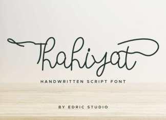 Thahiyat Handwritten Font