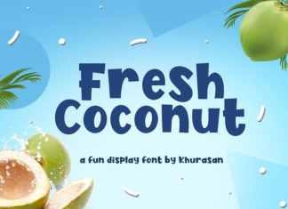 Fresh Coconut Display Font