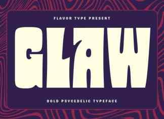 Glaw Display Font