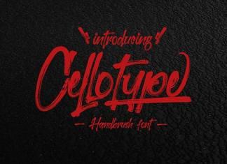 Cellotype Brush Font