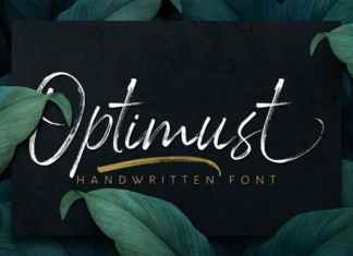 Optimust Brush Font