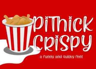 Pithick Crispy Display Font