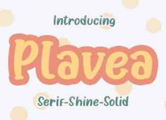 Plavea Display Font