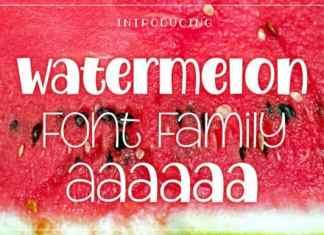 Watermelon Display Font
