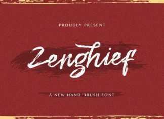 Zenghief Brush Font