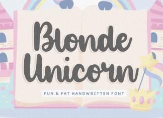 Blonde Unicorn Handwritten Font
