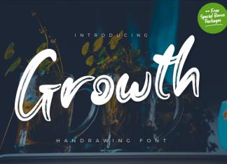 Growth Brush Font