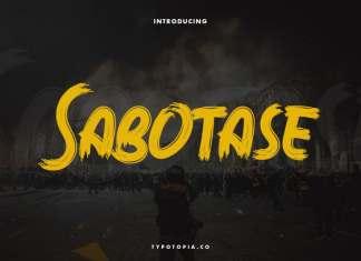Sabotase Brush Font