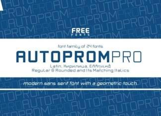Autoprom Sans Serif Font