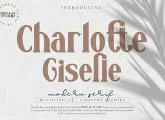 Charlotte Giselle Serif Font