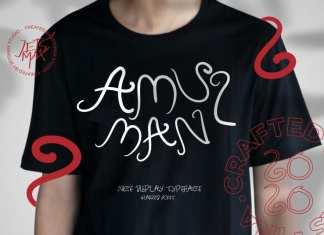 Amulman Modern Curly Font