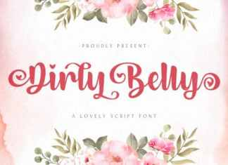 Dirly Belly Script Font