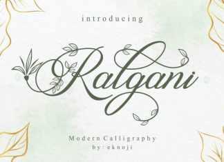 Ralgani Calligraphy Font