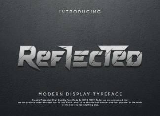 Reflected Display Font