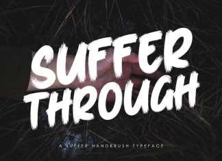Suffer Through Brush Font