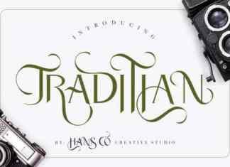 Traditian Display Font
