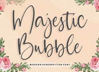 Majestic Bubble Handwritten Font