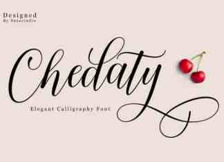 Chedaty Calligraphy Font