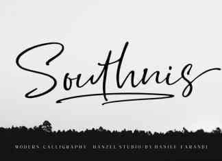 Southnis Handwritten Font