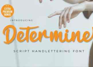 Determine Script Font
