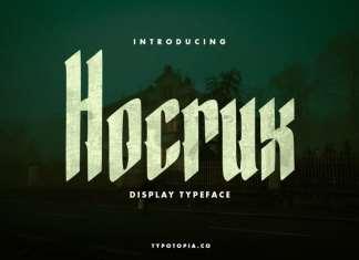 Hocrux Display Font