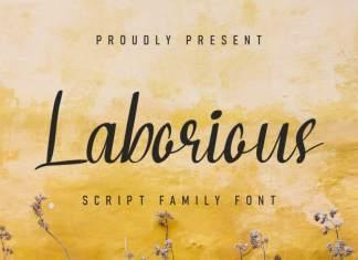 Laborious Script Font