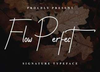Flow Perfect Signature Font