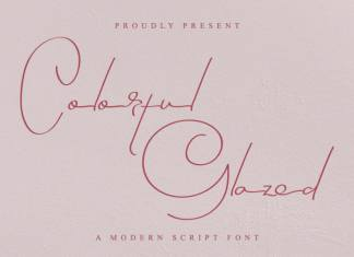 Colorful Glazed Signature Font