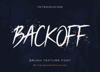 BACKOFF Script Font