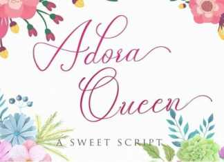 Adora Queen Calligraphy Font