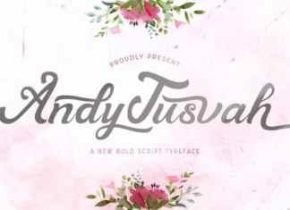 Andy Tusvah Calligraphy Font