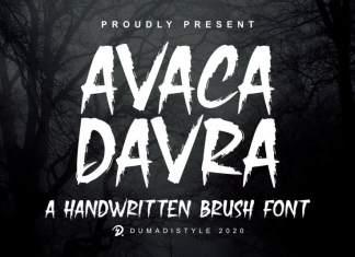 Avaka Davra Brush Font