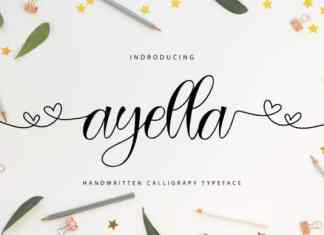 Ayella Calligraphy Font