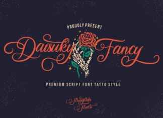 Daisuky Fancy Calligraphy Font