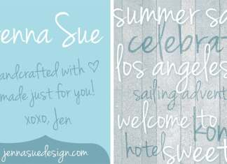 Jenna Sue Handwritten Font