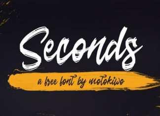 Seconds Brush Font